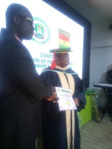 83chief Tony okoroji chairman coson,Nigeria BAGS CIPRMP FELLOWSHIP award.