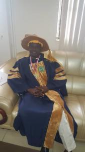 Prof Olayinka Deputy Vice chancellor recieved FELLOWSHIP award on behalf of the Vice chancellor university of ilorin, Professor Sulyman Age Abdulkareem.